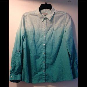 Kim Rogers linen blend button down shirt